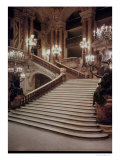 The Grand Staircase of the Opera-Garnier, 1860-75 Giclee Print by Charles Garnier