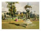 The Terrace Garden, Woburn Abbey Giclee Print by E. Adveno Brooke