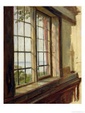 View of the Elbe Through a Window, 1838 Giclee Print by Johann Martin Gensler