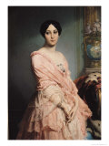 Portrait of Madame F, 1850-51 Giclee Print by Louis Edouard Dubufe