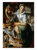 The Kitchen Maid circa 1620-25 Premium Giclee Print by Joachim Wtewael Or Utewael