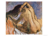 Woman Combing Her Hair, 1905-10 Giclee Print by Edgar Degas