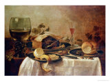 Still Life with Fruit Pie, 1635 Giclee Print by Willem Claesz. Heda