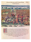 "The French Help the Indians in Battle, from ""Brevis Narratio.."" Giclee Print by Jacques Le Moyne"