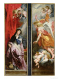 The Annunciation, from the Reverse of the Triptych of the Martyrdom of St. Stephen, circa 1617 Giclee Print by Peter Paul Rubens
