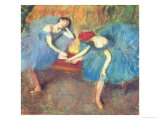 Two Dancers at Rest Or, Dancers in Blue, circa 1898 Giclee Print by Edgar Degas