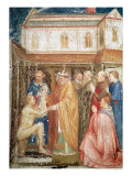 The Miracle of St. Stanislas from the Lower Church, circa 1340 Giclée-tryk af P. Capanna