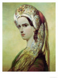 Portrait of Rachel Giclee Print by Achille Deveria