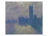 The Houses of Parliament, Stormy Sky, 1904 Premium Giclee Print by Claude Monet