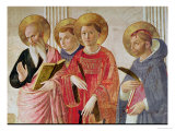 Madonna of the Shadow, Detail of Saints John the Evangelist Premium Giclee Print by  Fra Angelico