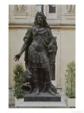 Statue of Louis XIV Giclee Print by Antoine Coysevox
