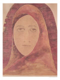 Head of a Woman Giclee Print by Rabindranath Tagore