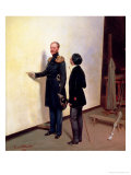 Tsar and Artist - Nikolay I in the Artist&#39;s Atelier, 1883 Gicl&#233;e-Druck von Bogdan Pavlovich Villeval&#39;de