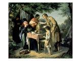 Tea Drinking in Mytishchi, Near Moscow, 1862 Giclee Print by Vasili Grigorevich Perov