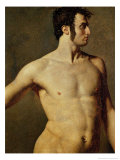 Male Torso, circa 1800 Giclee Print by Jean-Auguste-Dominique Ingres