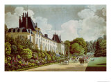 View of the Chateau de La Malmaison Next to the Park, from &quot;Views of the Malmaison&quot; Giclee Print by Auguste Garneray