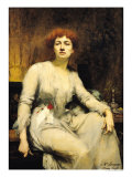Portrait of Severine 1893 Giclee Print by Amelie Beaury-saurel