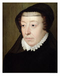 Portrait of Catherine de Medici Giclee Print by Francois Clouet