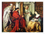 Christ at the House of Martha and Mary of Bethany Giclée-tryk af Jacob Jordaens