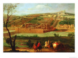 View of the Marly Machine and the Aqueduct at Louveciennes, 1722 Premium Giclee Print by Pierre-Denis Martin