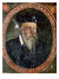 Portrait of Michel de Nostradame Giclee Print by Cesar Nostradamus