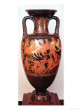 Attic Red Figure Amphora Depicting Ares and Aphrodite in a Chariot Fighting the Giants Giclee Print by  Suessula Painter
