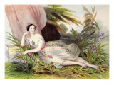 Maria Taglioni in the &quot;Flower Scene&quot;, from &quot;Album de L&#39;Opera&quot;, Mid 19th Century Giclee Print by Achille Deveria