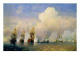 The Russo-Swedish Sea War Near Kronstadt in 1790 Giclee Print by Aleksei Petrovich Bogolyubov