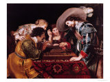 The Game of Backgammon Giclée-Druck von Cornelis de Vos