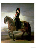 Equestrian Portrait of Queen Maria Luisa Wife of King Charles IV of Spain Giclee Print by Francisco de Goya