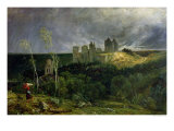 The Ruins of Chateau de Pierrefonds, 1861 Giclee Print by Paul Huet