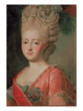 Portrait of Empress Maria Fyodorina, 1770s Giclee Print by Alexander Roslin