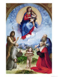 The Foligno Madonna, circa 1511-12 Reproduction procédé giclée par Raphael