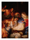 The Adoration of the Shepherds, Detail of the Group Surrounding Jesus Giclee Print by Guido Reni