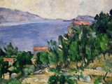 View of Mount Mareseilleveyre and the Isle of Maire, circa 1882-85 Reproduction procédé giclée par Paul Cézanne