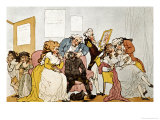 The Transplanting of Teeth, Cartoon Giclee Print by Thomas Rowlandson