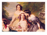 Empress Eugenie and Her Ladies in Waiting, Detail of Baronness de Malaret Giclee Print by Franz Xavier Winterhalter