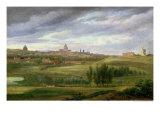 View of Paris from Butte aux Cailles, Gentilly Giclee Print by Jean Baptiste Gabriel Langlace