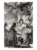 """Scene from """"L'Ingenu"""" by Voltaire Giclee Print by Charles Monnet"""