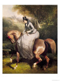 Amazon in the Forest at Pierrefonds Giclee Print by Alfred De Dreux
