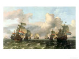 The Dutch Fleet of the India Company, 1675 Giclee Print by Ludolf Backhuysen