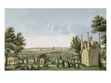 View of Pere-Lachaise Cemetery from the Gothic Chapel Giclee Print by Henri Courvoisier-Voisin
