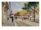 Avenue Montaigne, Paris Giclee Print by Jules Ernest Renoux