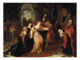 Esther Before Ahasuerus, Before 1697 Giclee Print by Antoine Coypel