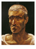 Head of a Shipwrecked Man, Study for the Raft of Medusa, 1817-19 Reproduction procédé giclée par Théodore Géricault