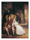 "Marie and Paul Taglioni in the Ballet ""La Sylphide"", 1832 Premium Giclee Print by Francois Gabriel Guillaume Lepaulle"