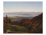 Mont-Blanc Seen from Saint-Cergues, 1869 Giclee Print by Francois Louis Francais