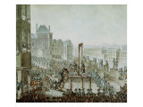 The Execution of Georges Cadoudal and His Accomplices, Place de Greve, 25th June 1804 Giclee Print by Armand de Polignac
