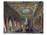 "Throne Room, Carlton House, from ""The History of the Royal Residences"", by William Henry Pyne, 1818 Giclee Print by Charles Wild"