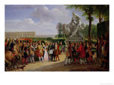 "Louis XIV Dedicating Puget's ""Milo of Crotona"" in the Gardens at Versailles, 1819 Giclee Print by Anicet-Charles Lemonnier"